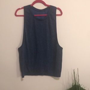 lululemon athletica Tops - Lululemon jersey mesh tank sz 8 blue